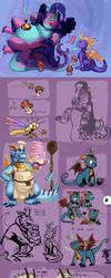 Dragon Doodles by knockabiller