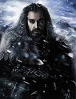 Dwarf Practice 9. Richard Armitage as Thorin by IdaHarra