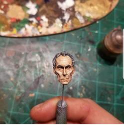 Custom Painted 6 inch Tarkin Head by PlasticSurgen
