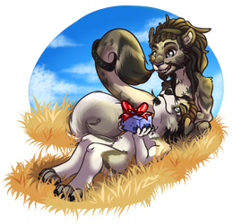 Comission- Avellano and Merlin by MarAlmok