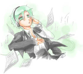Green Earphones by Hellmaster05