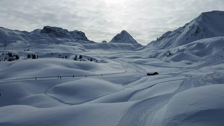alone - winter in la plagne by dovelife