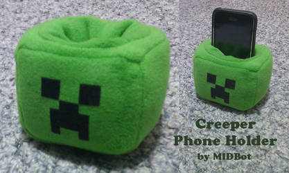 Phone Holder: Creeper from Minecraft by Midbot