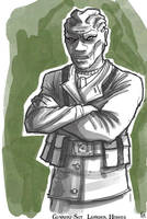 Gunnery-Sgt. Leander Hodges by Hyptosis