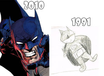 Batman Then and Now by brmidlock