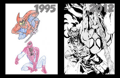 Spiderman Then And Now by brmidlock