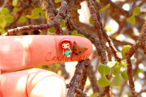 Little Red Riding Hood studs earrings by CandyDesign