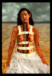 Frida Kahlo-The Broken Column by wildheartfreesoul