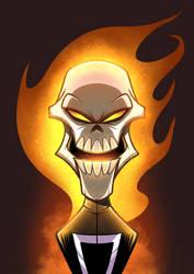 Headshot - Ghost Rider  by popon85