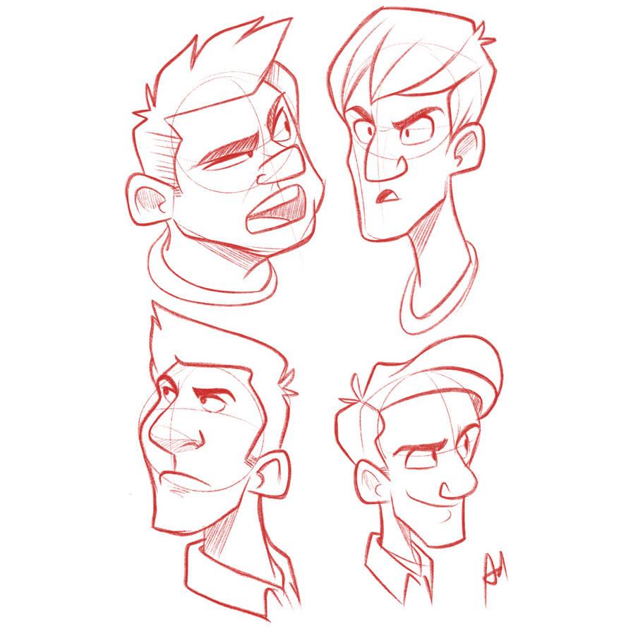 Head sketch  by popon85