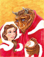 Belle and Beast Christmas by LEXLOTHOR