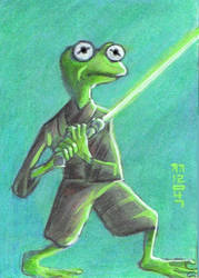 Kermit the Frog Jedi Master by LEXLOTHOR