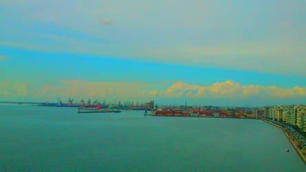 The port - Thessaloniki Paralia by foxmarina