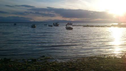 Walk by the sea - Sunset in Kalamaria by foxmarina