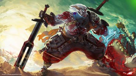 DAI: Lyrium Reaver Qunari Inquisitor by FrostLlamzon