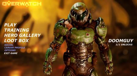 Overwatch - Doomguy as a Hero by DawnDw3ller