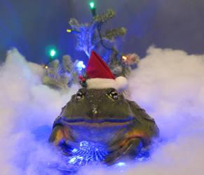 Christmas Frog 2 by Shiskababe