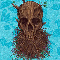 Wood Skull - Colored by nickv47