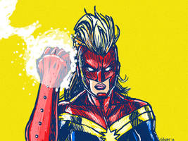 Powerful Fist of Captain Marvel by nickv47