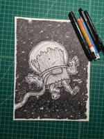 Inktober 16: The Space Log by nickv47