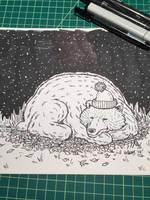Novembear 03: Sleepy Bear by nickv47