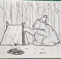 Novembear 04: Curious Bear by nickv47