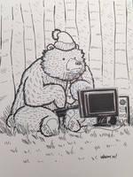Novembear 10: Busy Bear by nickv47