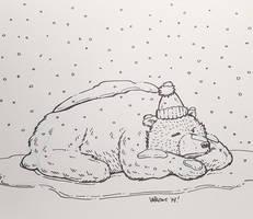 Novembear 12: Snow? Seriously? by nickv47