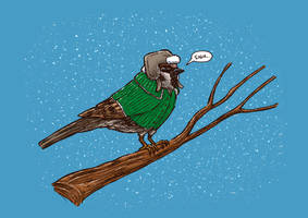 Annoyed IL Birds: The Sparrow by nickv47