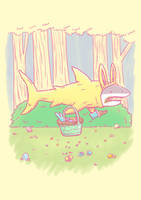 The Easter Bunny Shark by nickv47