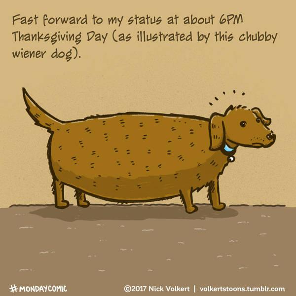 Fat Wiener Dog by nickv47