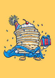 Captain Birthday Pancake by nickv47