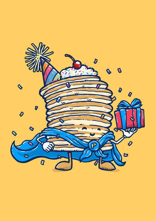 Captain Birthday Pancake by nickv47