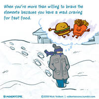Monday Comic - Fast Food by nickv47