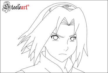 Sakura Lineart by SteeleART