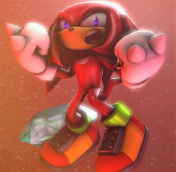 Knuckles the Echidna :~Sonic SFM~: by CharCharRose131