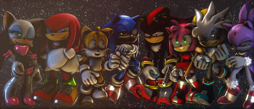 The Gang (Christmas Eve) :~Sonic SFM~: by CharCharRose131