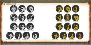 ancient javanese Warrior icon design by Banzz