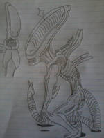 Only A few My Alien Drawings (6) by grisador