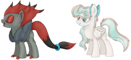 Two Customs for PokemonLover7669 by shadowqueen04