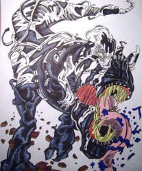 Tyrannosaurus Rex Venom(Old Man Logan Comics) by MasterMcCraig1982