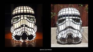 Stormtrooper Helmet (lamp)- front by devilxkat