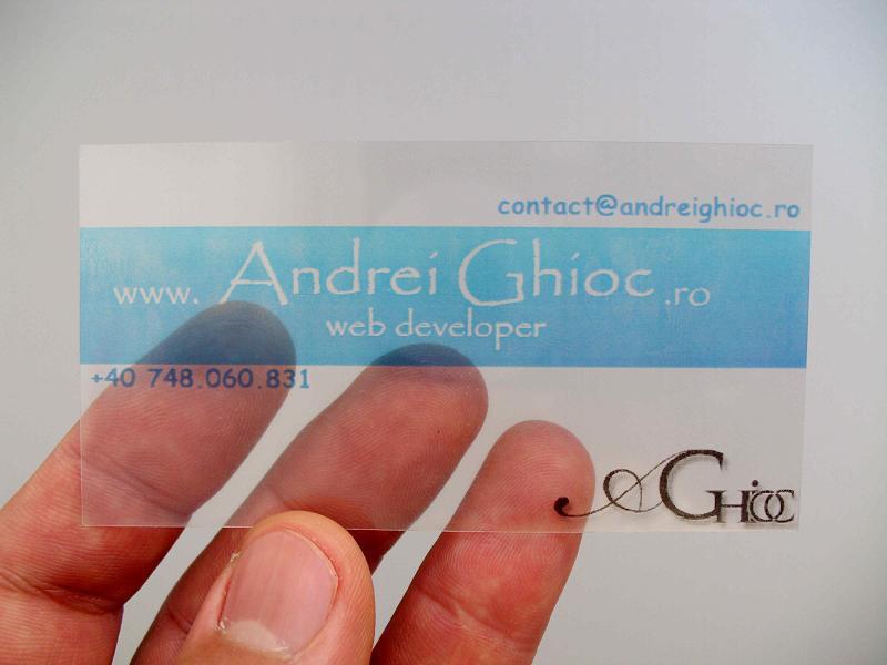 transparent business card by blackk9