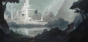 environment sketch by SebastianWagner