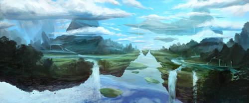 Floating Islands by SebastianWagner