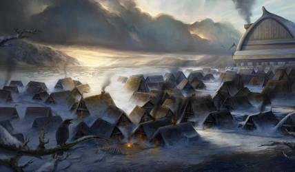 Snowy Village by SebastianWagner