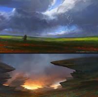 two landscapes by SebastianWagner
