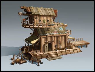 Fisherman Hut by SebastianWagner