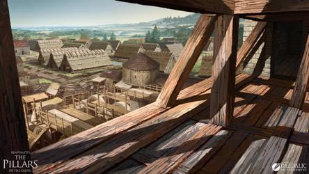 The Pillars of the Earth - Kingsbridge Roof by SebastianWagner