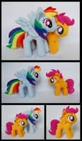 Rainbow Dash and Scootaloo Plushies by Rainbow-Kite